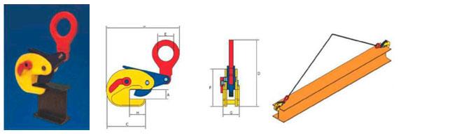 Захваты Terrier для подъёма стального профиля, балок, конструкций